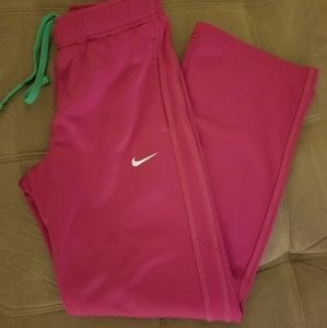 Nike Girls-M Thermafit pink running pants